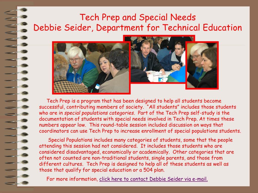 Tech Prep and Special Needs