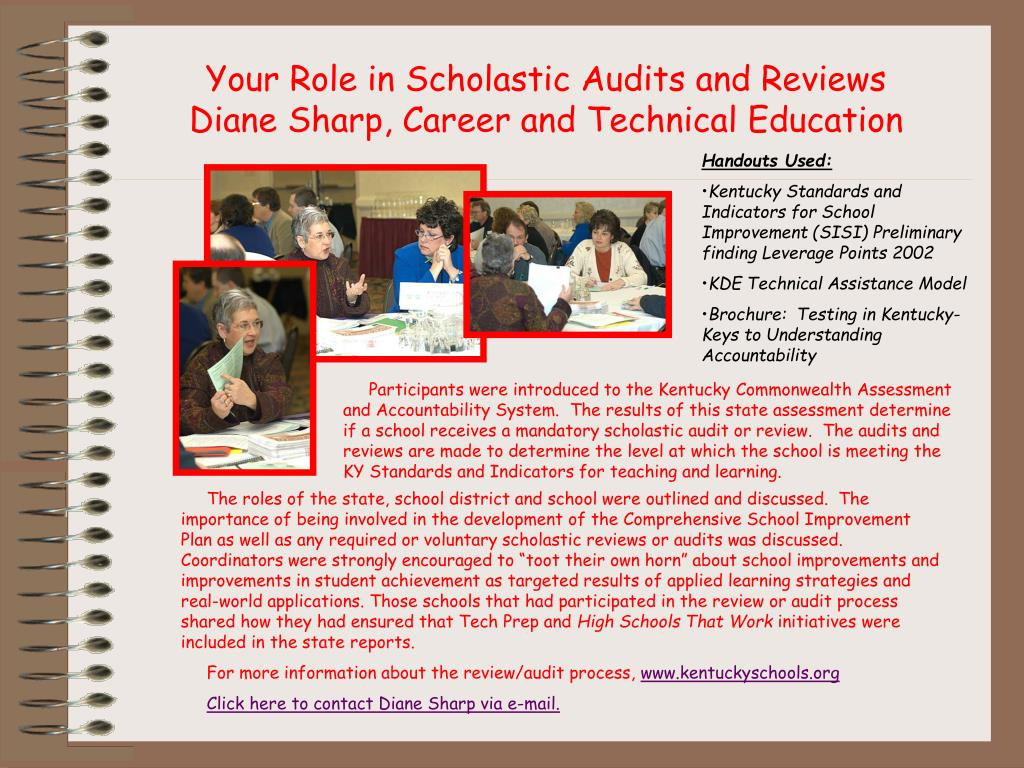 Your Role in Scholastic Audits and Reviews