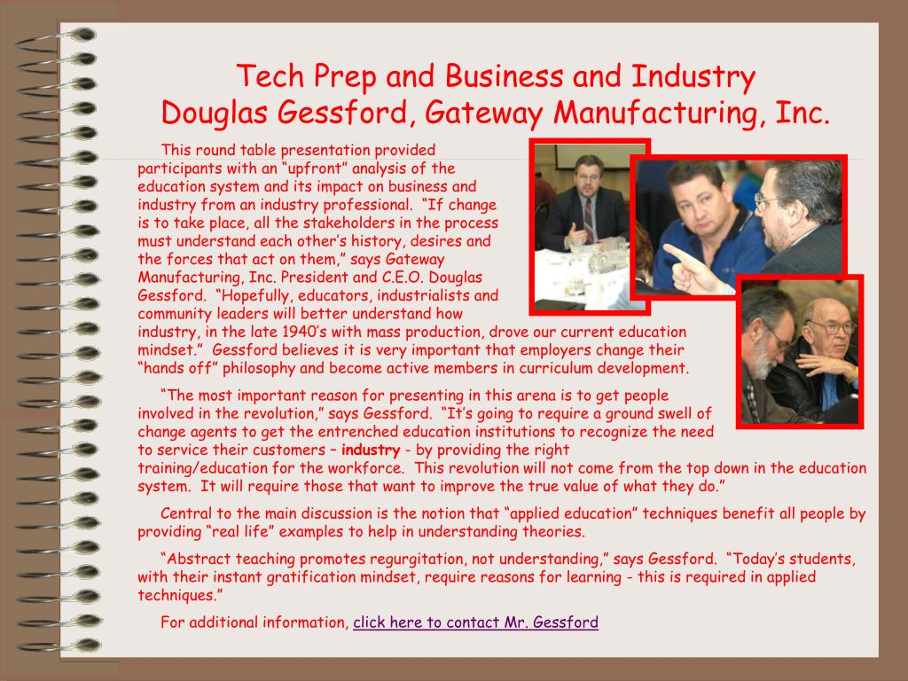 Tech Prep and Business and Industry