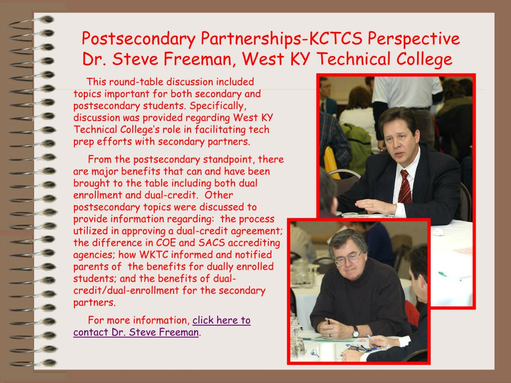 Postsecondary Partnerships-KCTCS Perspective