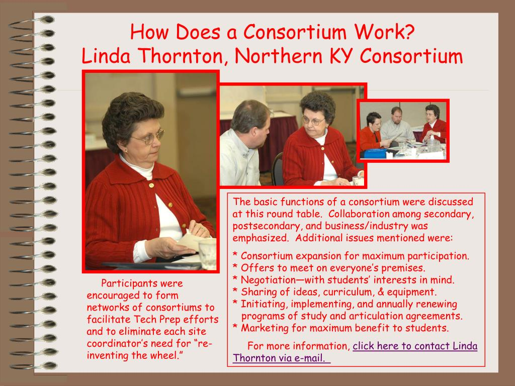 How Does a Consortium Work?