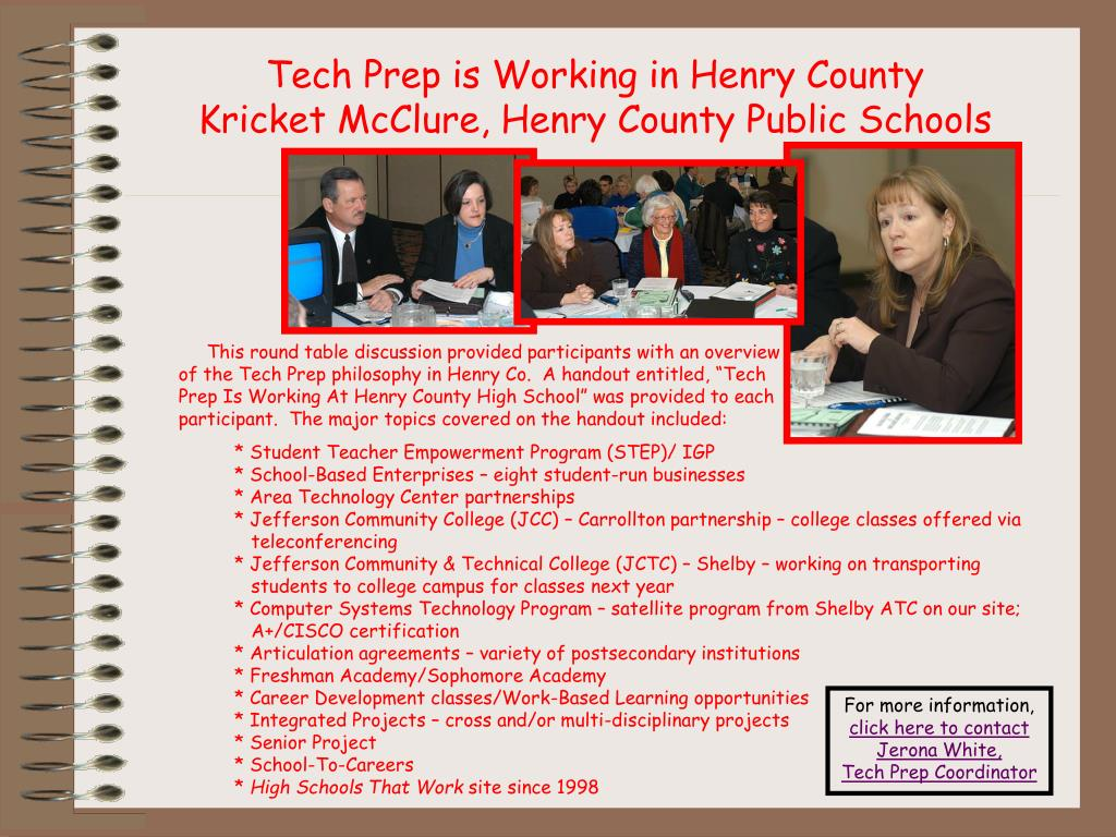Tech Prep is Working in Henry County