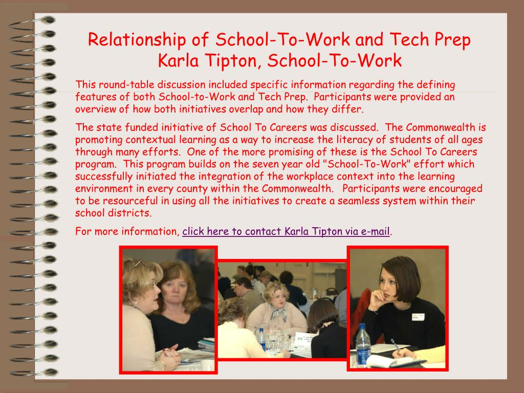 Relationship of School-To-Work and Tech Prep