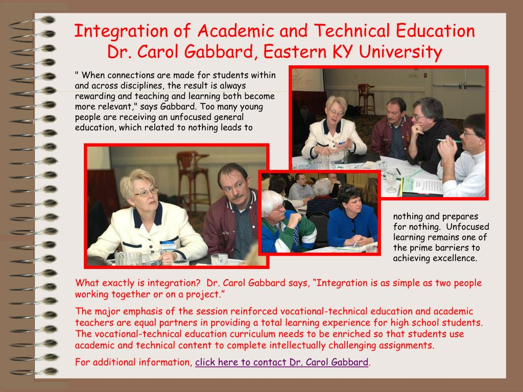 Integration of Academic and Technical Education