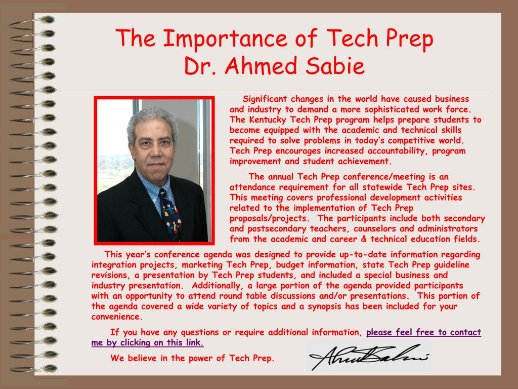 The Importance of Tech Prep