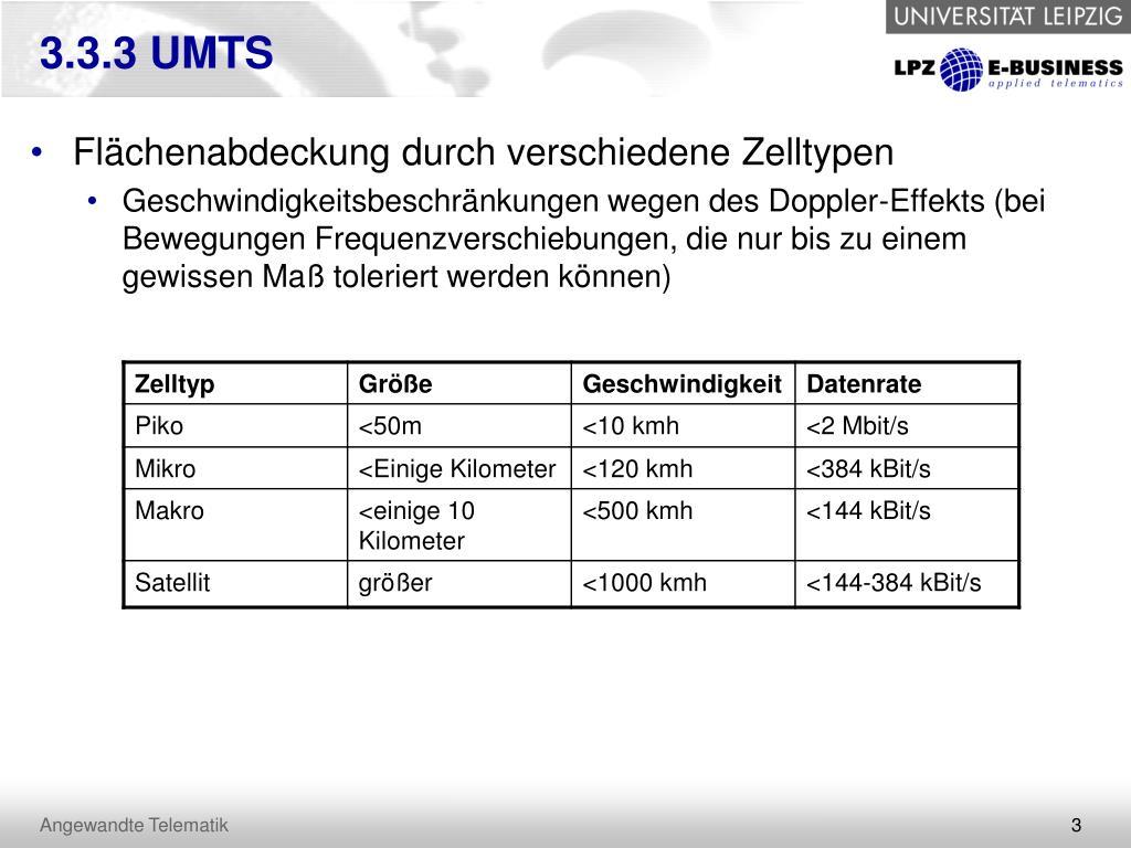 3.3.3 UMTS