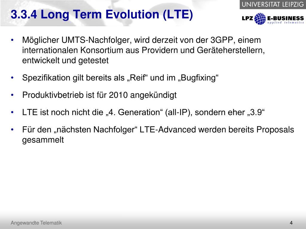 3.3.4 Long Term Evolution (LTE)