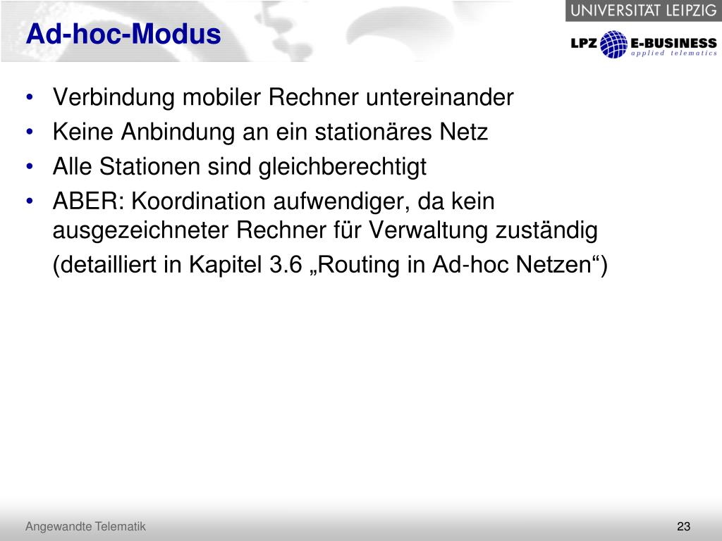 Ad-hoc-Modus