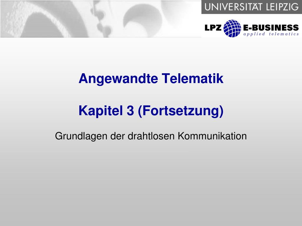 angewandte telematik kapitel 3 fortsetzung