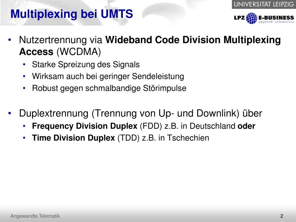 Multiplexing bei UMTS
