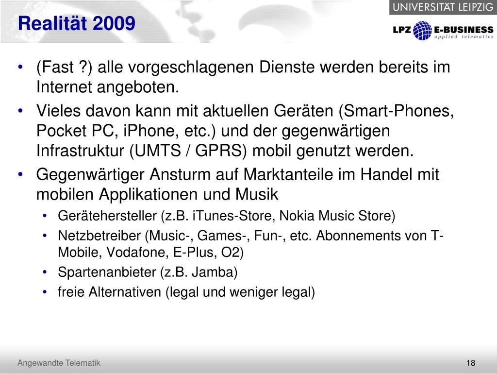 Realität 2009