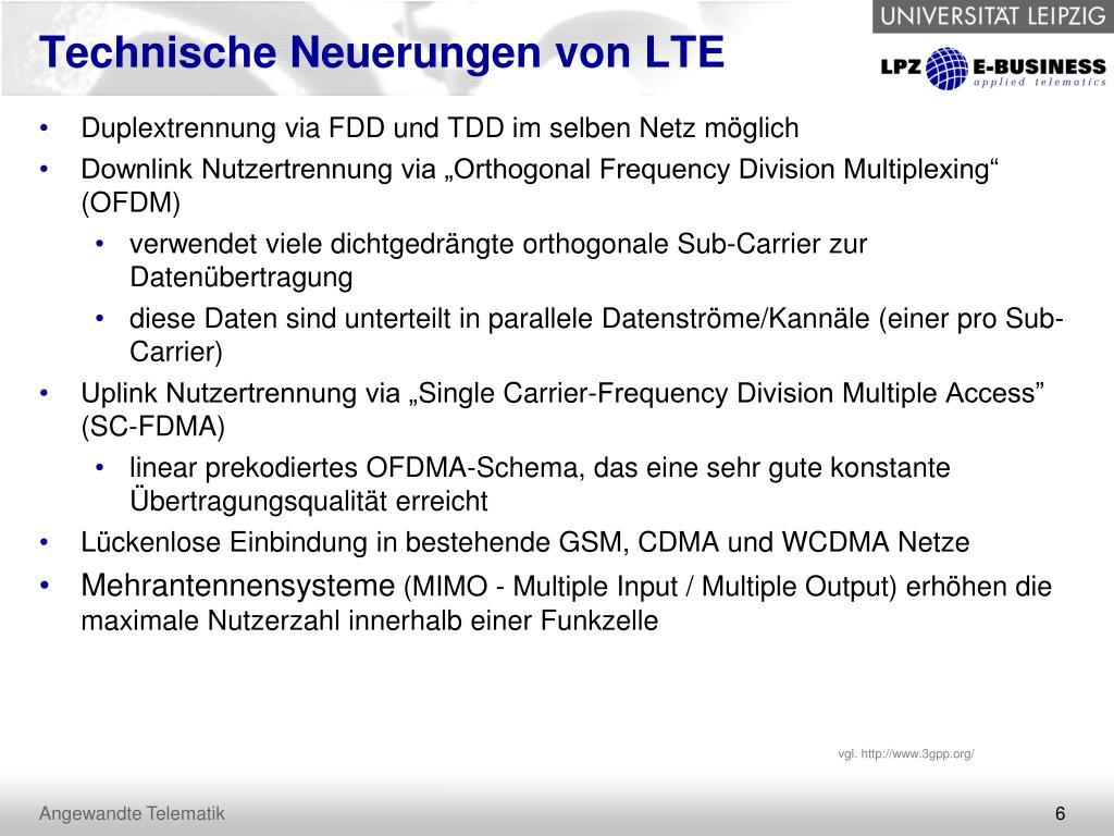 Technische Neuerungen von LTE