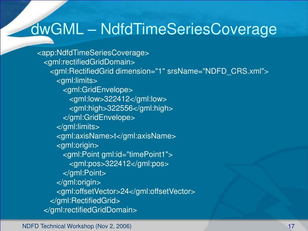 dwGML – NdfdTimeSeriesCoverage