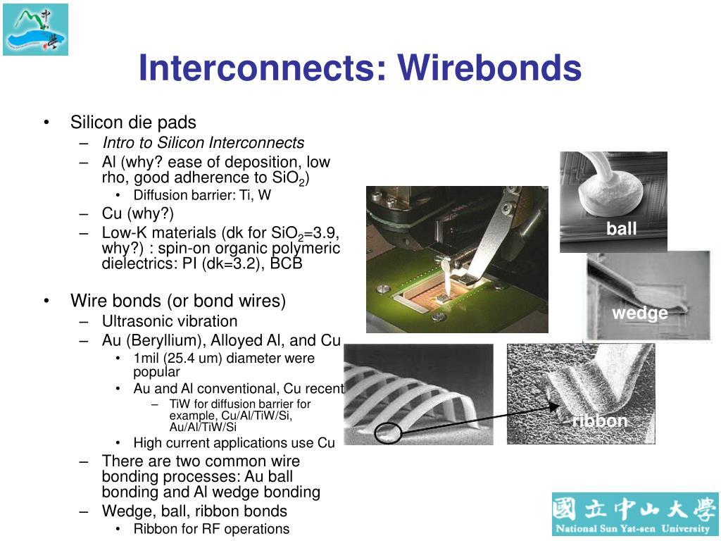Interconnects: Wirebonds