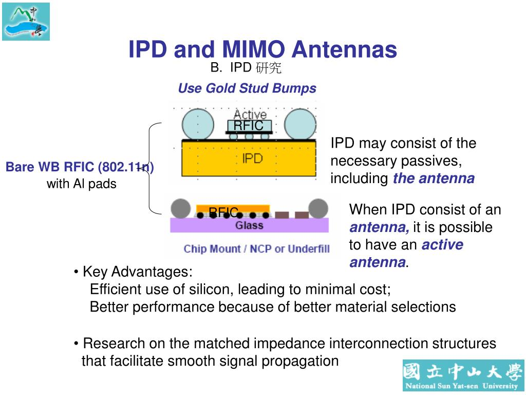 IPD and MIMO Antennas
