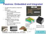 passives embedded and integrated