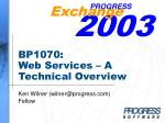 bp1070 web services a technical overview