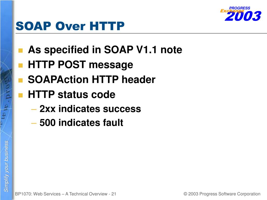 SOAP Over HTTP