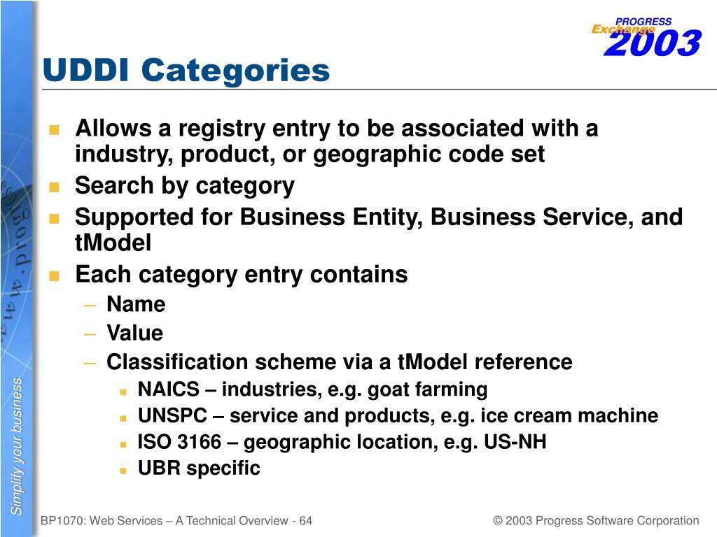 UDDI Categories