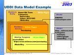 uddi data model example