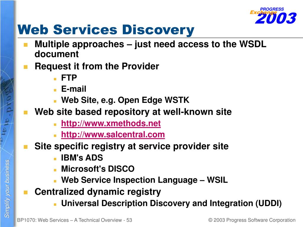 Web Services Discovery