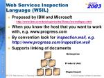 web services inspection language wsil