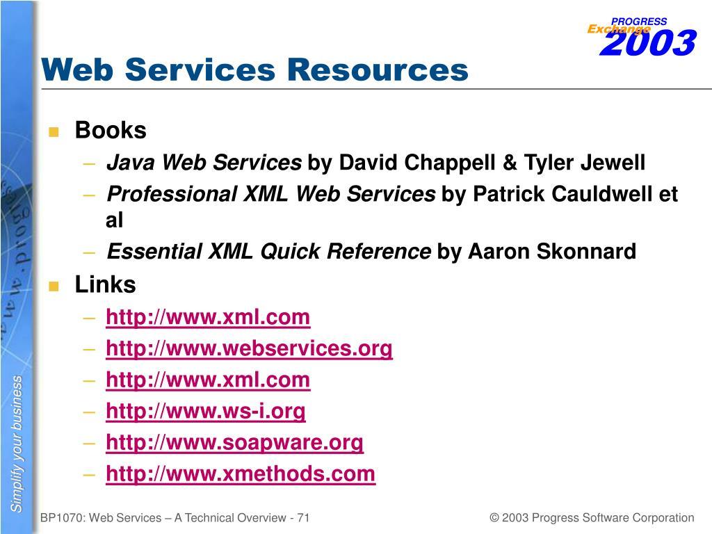 Web Services Resources