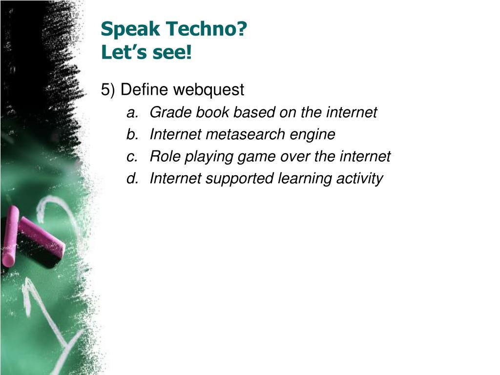 Speak Techno?