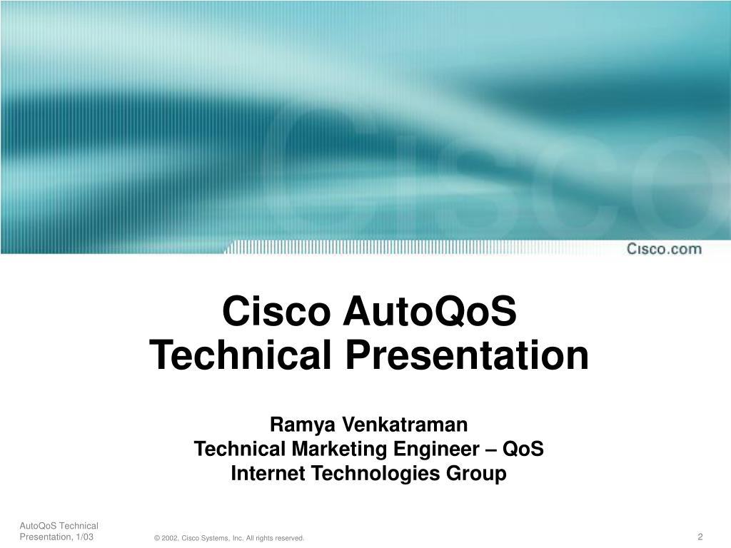 Cisco AutoQoS