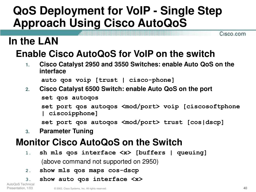 QoS Deployment for VoIP - Single Step Approach Using Cisco AutoQoS