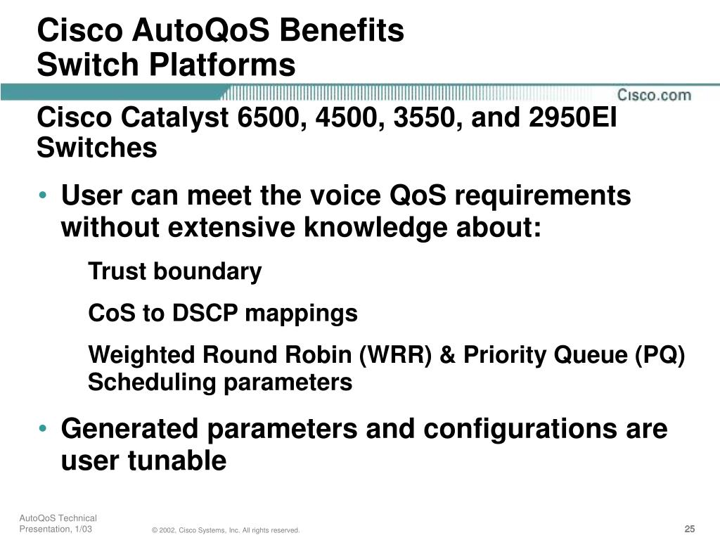 Cisco AutoQoS Benefits