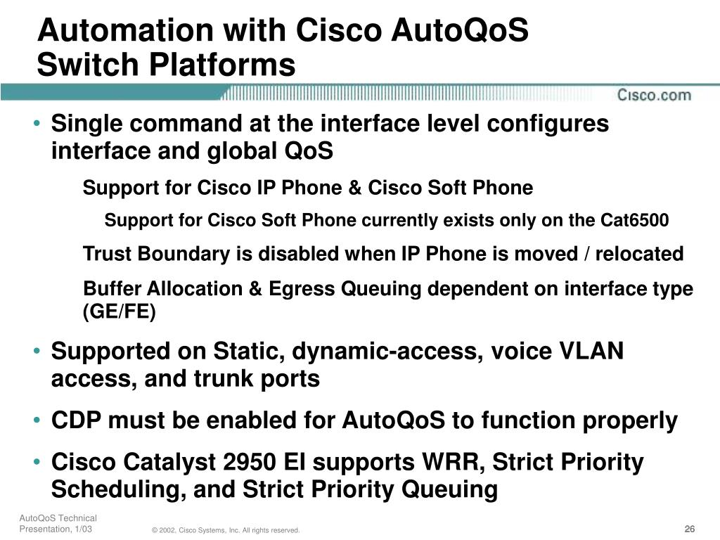 Automation with Cisco AutoQoS