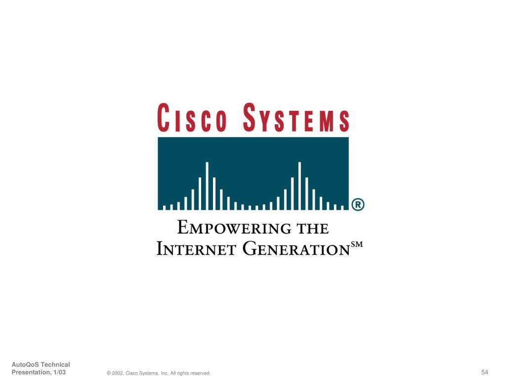 AutoQoS Technical Presentation, 1/03