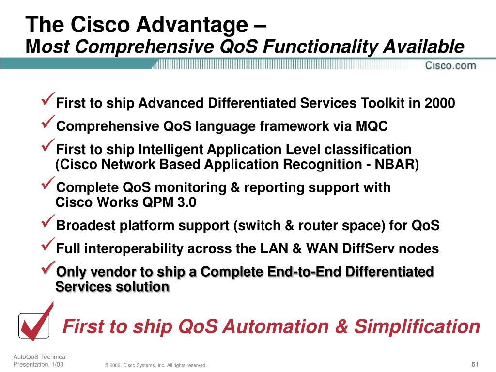 The Cisco Advantage –