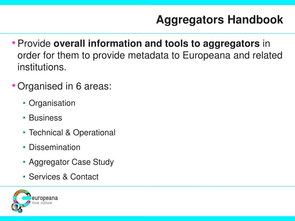 Aggregators Handbook