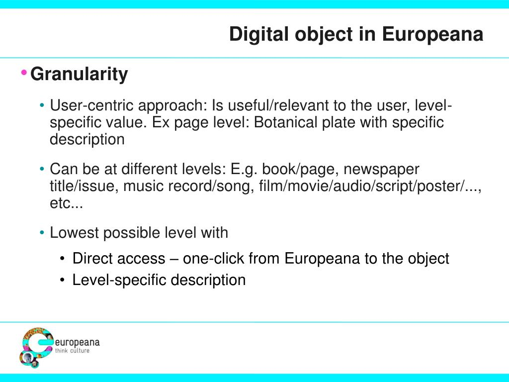 Digital object in Europeana