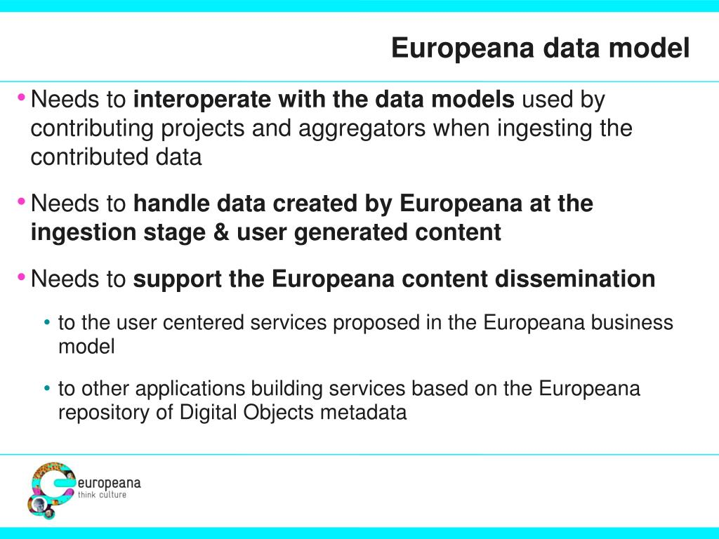 Europeana data model