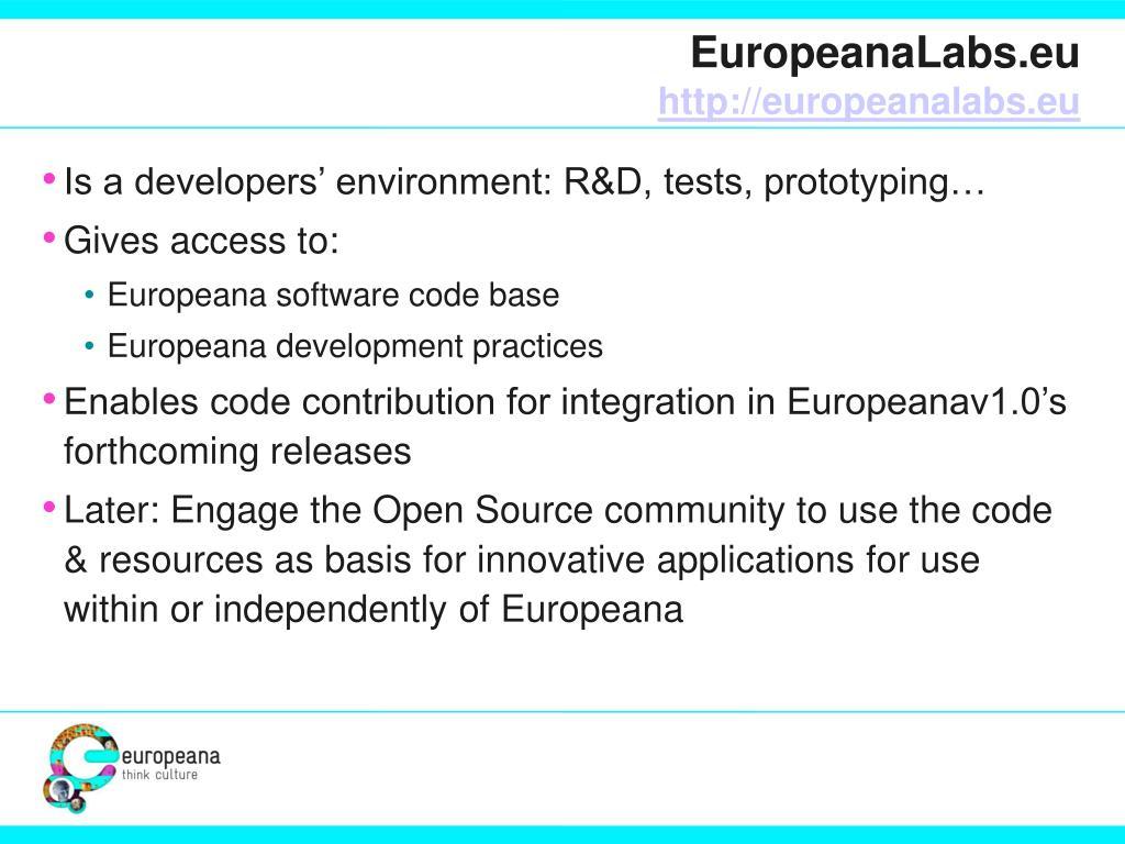 EuropeanaLabs.eu