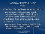 computer related crime fraud