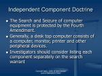 independent component doctrine