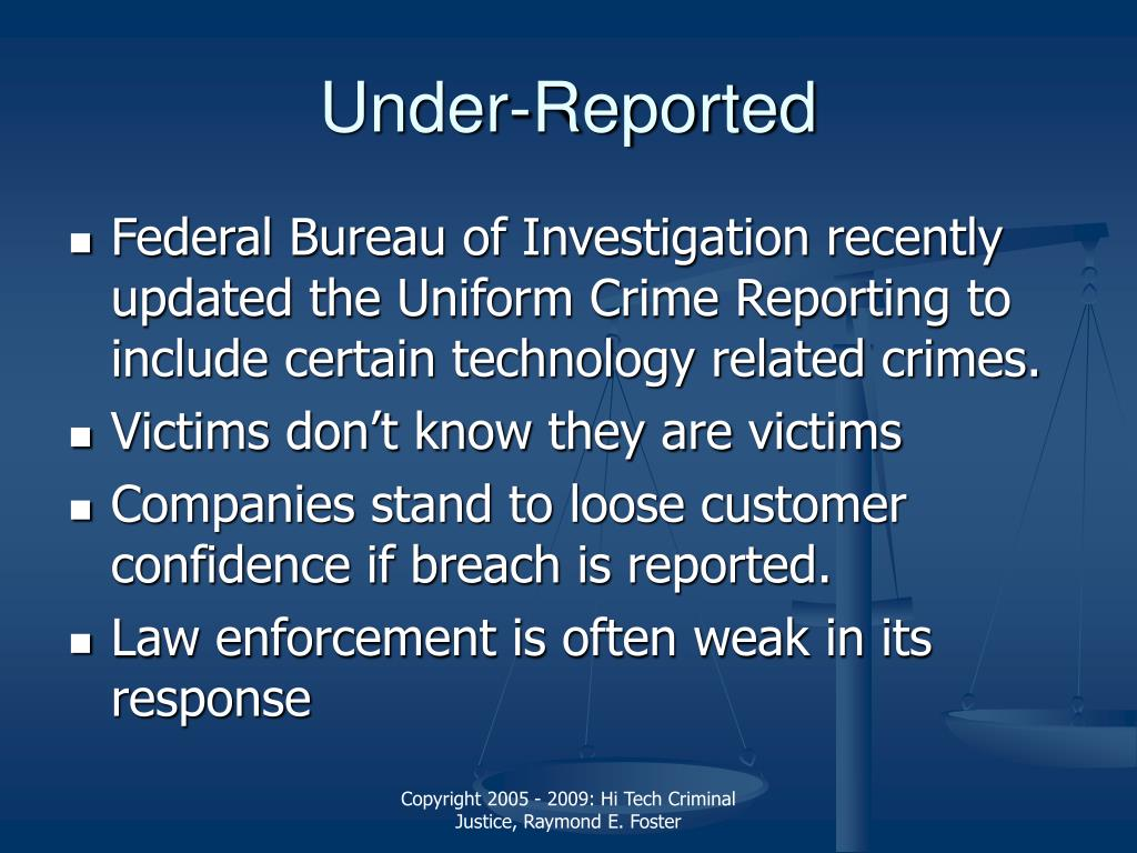 Under-Reported