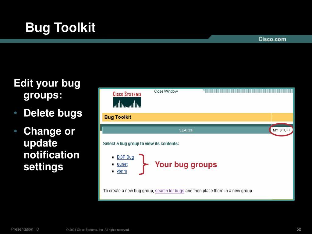 Bug Toolkit