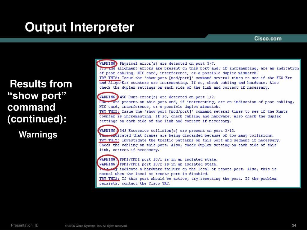 Output Interpreter