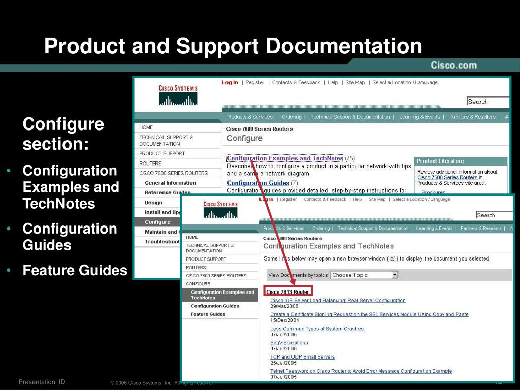Product and Support Documentation