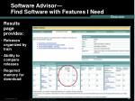 software advisor find software with features i need40