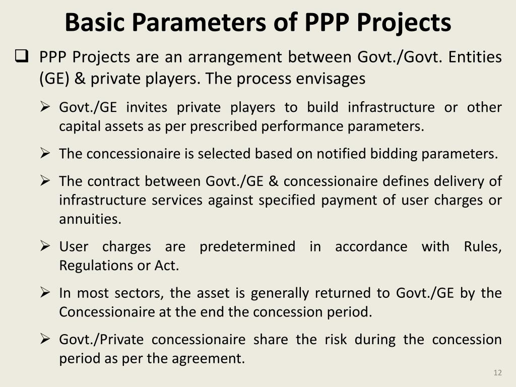 Basic Parameters of PPP Projects