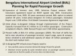 bengaluru international airport limited bial planning for rapid passenger growth
