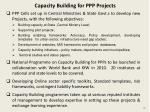 capacity building for ppp projects