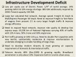 infrastructure development deficit