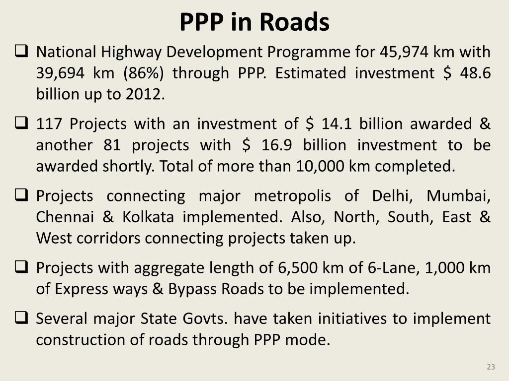 PPP in Roads
